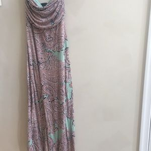 Strapless Paisley Limited Dress